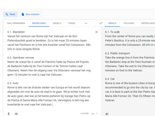 vertalen met google translate
