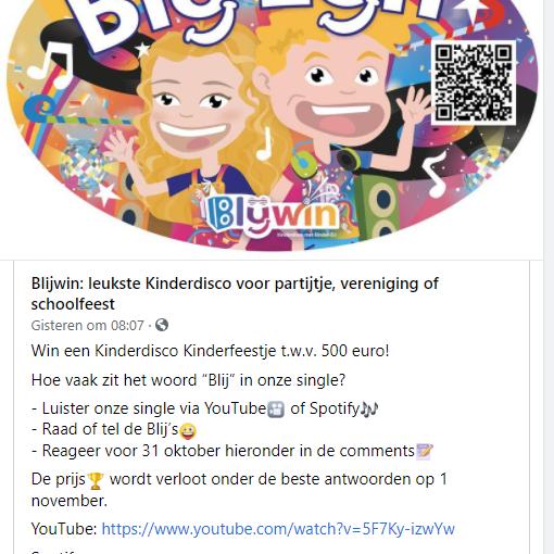 prijsvraag facebook wedstrijd